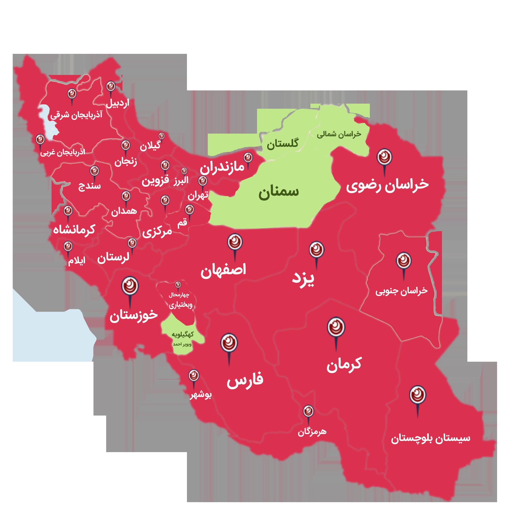 نقشه نرم افزار دایاموز در ایران